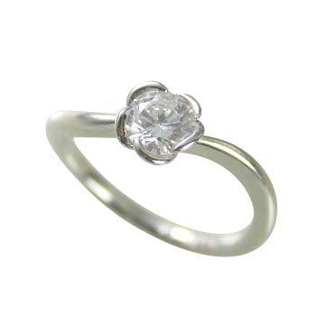婚約指輪 ケース付 ダイヤモンド プラチナ 0.3カラット 鑑定書付 0.338ct Dカラー VS2クラス 3EXカット H&C CGL サイズ7号