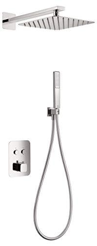 Conjunto de ducha termostática empotrada Imex Madeira GTM021