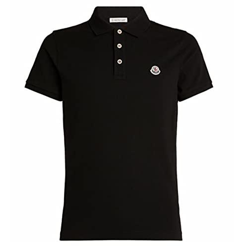 Moncler Maglia Herren Poloshirt, Schwarz Gr. S, Schwarz