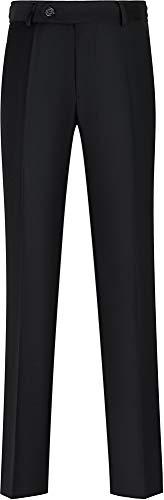 STENSER B98A Jungen Anzughose Schuluniform Elastische Taille, Schwarz, 140 S (Label 32/140)