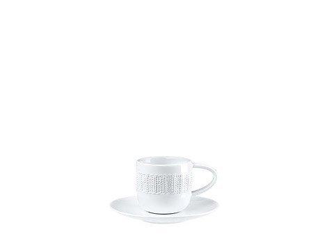 ASA LAINEBL Espressotassen, Porzellan, weiß, 5.8x5.8x5.6 cm, 2-Einheiten