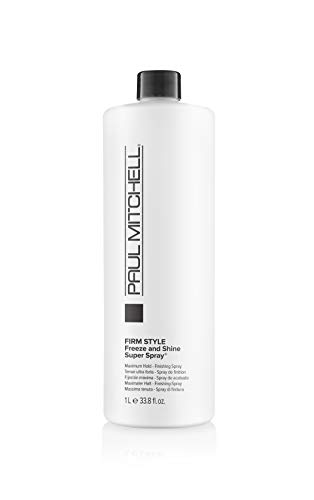 Paul Mitchell Freeze and Shine Super Spray - professionelles Haar-Spray für maximalen Halt, Finishing-Spray fixiert jedes Styling, 1000 ml