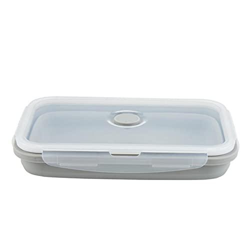 300/300/800 / 1200ml Caja de Silicona Plegable Caja de Almuerzo portátil Microondas Portátil Cocina Cocina Almacenamiento Almacenamiento ecológico (Color : Gray, Size : 500ml)