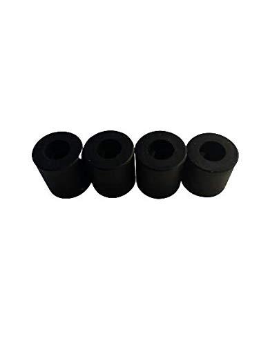 3DPLady   Silikonpuffer (Silikondämpfer) für 3D Drucker 1x16mm+3x18mm Zubehör (Schwarz)