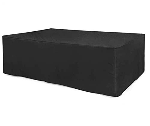 OUTEW Fundas de Muebles de Jardín, Rectangular en Forma de L Sofá Cubierta de Protección, Impermeable Tela Oxford Resistente al Desgarro,155 * 98 * 68,Black