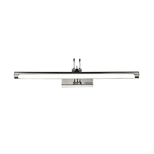 Luces de espejo Luz delantera del espejo Lámpara de noche de acero inoxidable LED Lámpara de pared de baño Impermeable Lámpara de pared Lámpara de maquillaje Luz blanca 6500K [Clase energética A +]