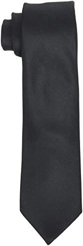 SELECTED HOMME Herren SLHNEW PLAIN TIE 7CM NOOS B Krawatte, Schwarz (Black Black), One Size