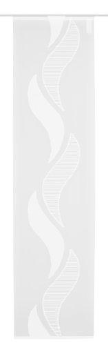 Home Fashion 87787-810 Scherli - Panel japonés, Fabricado en Voile, 245 x 60 cm, Color Blanco
