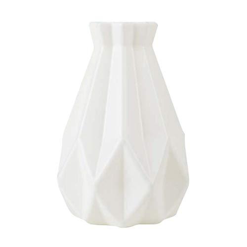 LOVIVER Landhausstil Blumenvase Blumentopf Dekovase Ornamente aus Kunststoff - 02 Weiß