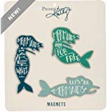 Primitives by Kathy - Tin Magnets - Mermaids