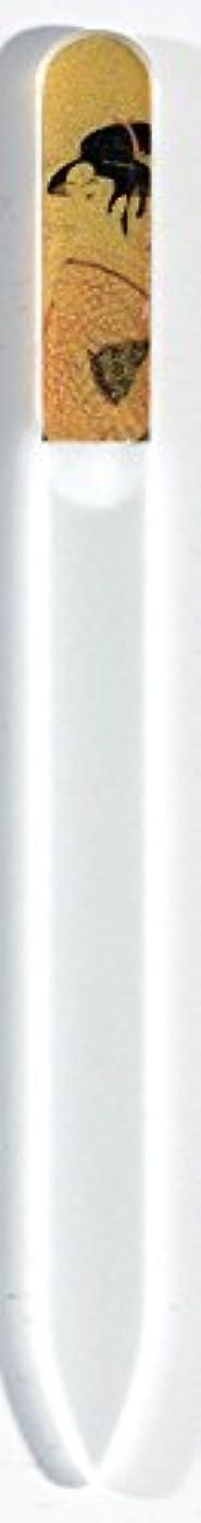 自治誰代わって蒔絵 ブラジェク製 爪ヤスリ ポッピンを吹く女 紀州漆器 爪やすり