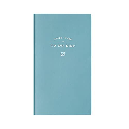 Festnight Portátil Mini Diario de viaje Diario PU Cuaderno de escritura 7 x 3.9in Cubierta de papel Bloc de notas de negocios impermeable 96 hojas Regalo para estudiantes de escuela Artistas Viajeros
