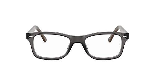 Ray-Ban Unisex-Adult RX5228 Prescription Eyeglass Frames, Grey/Demo Lens, 55 mm
