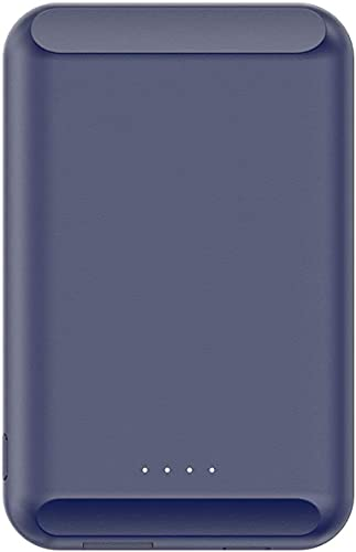 Star Garden Cargador Wireless Portable Safe Adsorbible Mini Then Power Bank Ultra Then Teléfono Móvil Carga Inalámbrica por Teléfono 12 Mini / 12/12 Pro / 12 Pro MAX(Color:Azul Marino)