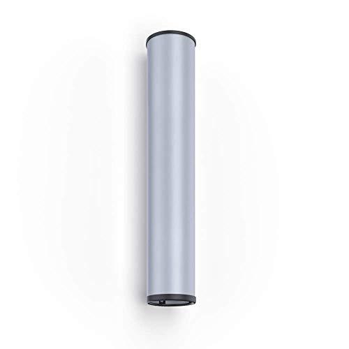 CUPFRIEND Becherspender Wandmontage für Plastikbecher, Wasserbecher, Pappbecher, Kaffeebecher im Edelstahl-Look (für Becher Ø80-90mm)