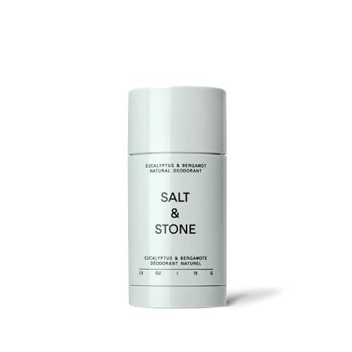 Salt & Stone - Natural Deodorant Nº 2 - Bergamot & Eucalyptus - Unisex, Vegan, Gluten Free, Cruelty Free, Aluminum Free, Free of Parabens & Sulfates, Senstive Skin, Baking Soda Free