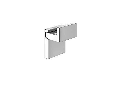 Roca A816840001 Percha Rubik, Tornillo o Adhesivo, Metal Brillo, Cromado, Pequeño