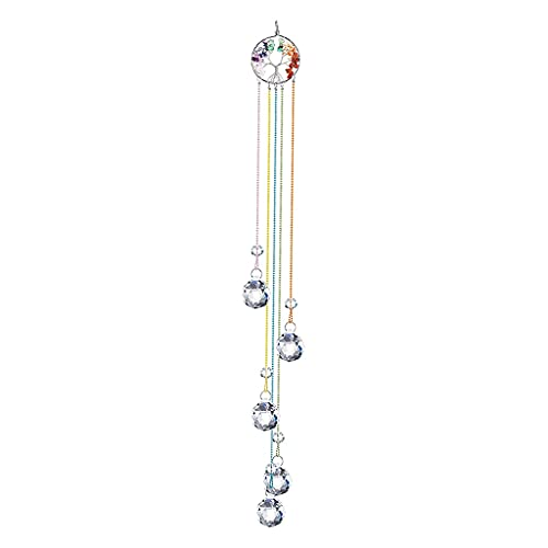 YFCTLM Cazador de Sol Crystal SunCatcher Chakra Colores Bolas Prisma Ventana Colgante Colgante Arco Iris Sun Catcher Navidad Decoración