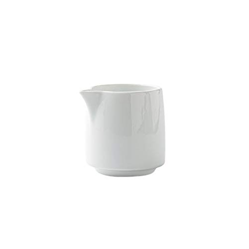 Ceramic Creamer Jugs Sauce Pitcher Milk Creamer Coffee Syrup Jar Server Dipping Bowls No Handle White