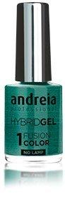 Andreia professionele hybride gel nagellak - 2 stappen en geen lamp nodig Langdurige en eenvoudige verwijdering - Fusion Color H54 Aqua |Tinten groen en blauw