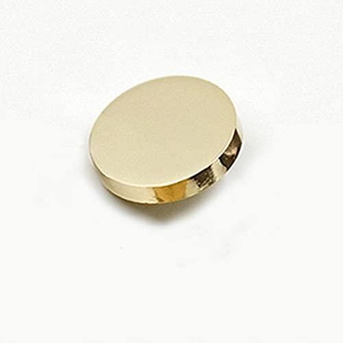 LINSO 10 Uds Botones Redondos de Plata Dorada, botón de vástago de aleación para Chaqueta, Rompevientos, botón, Cierre, Chapado, Suministro de Costura a presión de Metal