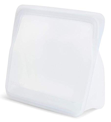Stasher 960 Bolsa de silicona de grado alimenticio para comer, cocinar, congelar y almacenar/organizar/viajar, 17,80 x 20,30 cm, transparente