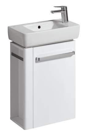 Keramag Renova Nr. 1 Comprimo NEU Handwaschbecken-Unterschrank 45 cm Weiß hochglanz, Weiß matt; Handtuchhalter links