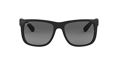 Ray-Ban Justin RB4165 - Gafas de sol Unisex, Negro (Black Rubber), 55 mm