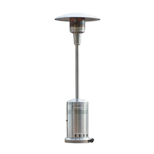 Royal Garden Patio Heater - Outdoor Patio Heater - 48000 BTU Propane Based - Stainless Steel Construction - Classic Design - with Wheels - Easy Set Up - Commercial & Residential