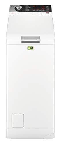 AEG L8TE84565 Waschmaschine Toplader / Energiesparender Waschvollautomat / Energieklasse D / Mit ProSense-, ProSteam- und ֖koMix-Technologie / 40 cm breit mit 6 kg Fassungsvermögen