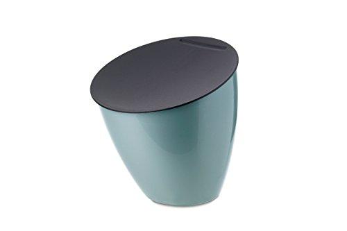 Mepal Abfallbehälter Calypso, Plastik, Nordic Grün, 17.5 x 18.4 cm