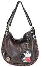 Chala Purse Handbag Hobo Cross Body Convertible Chocolate Fat Cat Bag