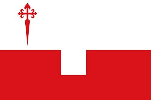 magFlags Bandera Large En un paño por la Mitad Horizontal encastrado un Cuadro | Bandera Paisaje | 1.35m² | 90x150cm