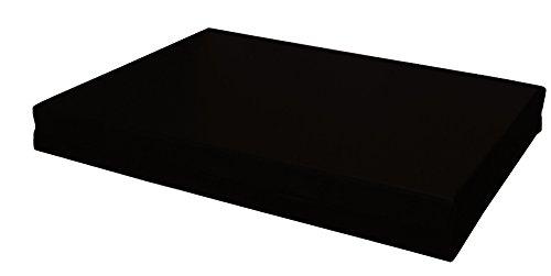 Cuscino per bancali - cuscino per seduta divano pallet di legno - IN ECOPELLE SFODERABILE (SEDUTA 80X120X15 CM, NERO)