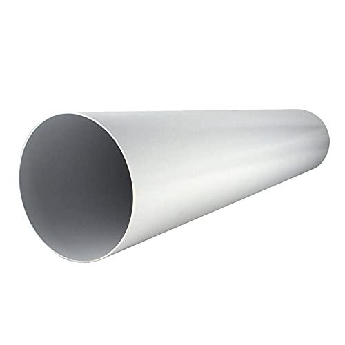 Lüftungsrohr Ø 100 mm Länge 1 m Meter aus Kunststoff Rundrohr Rundkanal Abluft-Rohr Abluftkanal Dunstabzug Kanal Ø 10 cm und 100 cm lang Rundrohrsystem