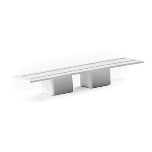DQ-PP GARDINENSCHIENE ENDKAPPEN | Set 2 Stück | PVC | 2-läufig | Weiss | Gardinen Schiene Vorhangschienen