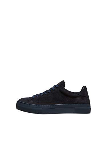 SELECTED HOMME Male Sneakers Kompakte Wildleder 44Sky Captain