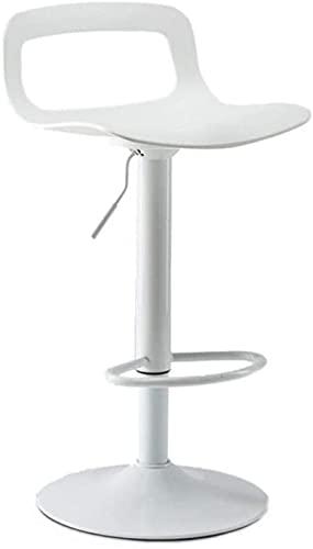 Taburete giratorio de bar, silla de oficina, silla de escritorio, taburete de oficina, taburete giratorio de altura, taburete tapizado, 2 colores (color: negro) (color: blanco)