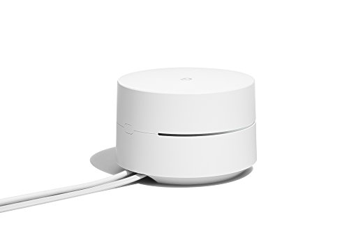 Google Mesh Sistema Wifi, Copertura fino a 255 m², Velocità Dual-band AC1200 (fino a 1.2 Gbps), Installazione e controllo tramite App Google Wifi, Bianco, Versione Italiana (3 dispositivi inclusi)