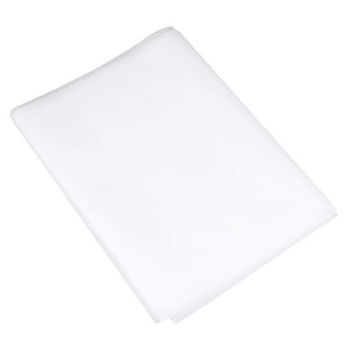 EXCEART 2 Feuilles de Tissu Filtrant Non Tissé Lingette de Gaze de Coton Non Tissé pour Application de Couche Filtrante Blanc 17. 5Cmx10m