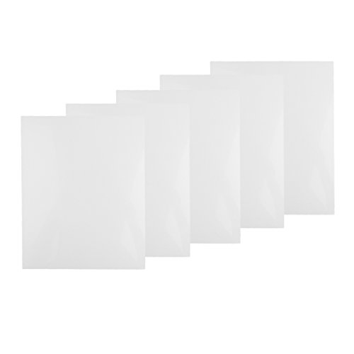 D DOLITY 5er-Set Kunststoff Platten Kunstoffplatten zum Modellbau DIY Basteln - Weiß, 200x250x0,5mm