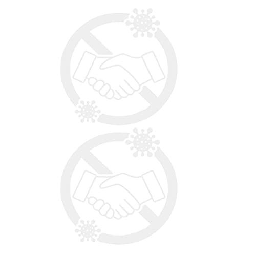 Tomaibaby 2 Piezas Aviso sin Apretones de Manos por Favor Firme Plástico Rígido