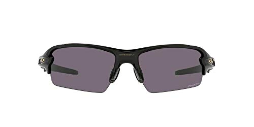 Oakley Men's OO9271 Flak 2.0 Asian Fit Rectangular Sunglasses, Polished Black/Prizm Grey, 61mm