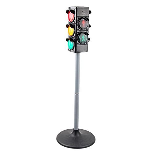Non-brand Mini señales de tráfico, luz de Freno, lámpara de Juguete con luz y educación Musical, decoración de Fiesta temática - semáforo