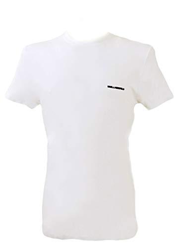 Karl Lagerfeld Schlichtes Shirt Herren T-Shirt Slim Fit Weiß, Größenauswahl:XL