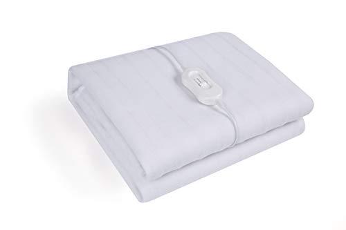 Coastech Wärmeunterbett waschbar weiß mit 3 Heizstufen, Einzelbett, Unterlage, Unterdecke, Heizdecke, Wärmepad, Matratzenheizung, Wärmebett, Heizdecke