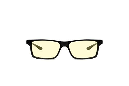 Gunnar Gaming- und Computerbrille | Model: Vertex, Rahmen: Onyx, Linse: Amber | Anti-Blaulicht-Brille | Patentierte Linse, 65% Blaulicht- & 100% UV-Lichtschutz zur Verringerung der Augenbelastung