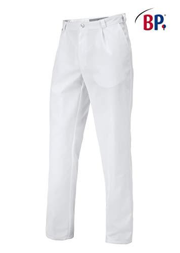 BP 1359-558-21-50n Hose für Männer, mit Bundfalten und Taschen, 245,00 g/m² Stoffmischung, weiß ,50n