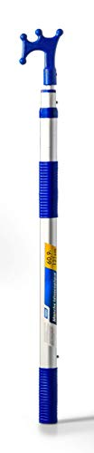 Camco Telescoping Handle with Boat Hook, 5-9ft, Handle Can Be Used with Multiple Accessories - 41914