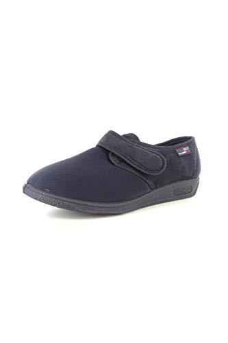 Gaviga 902 - Zapatillas de casa cómodas para mujer, color marrón y negro, de tela.